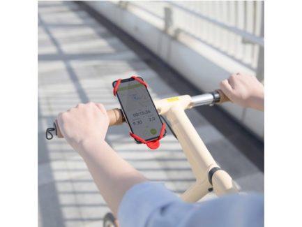 Bike-Tie-2-telefoonhouder-universeel-rood-4716076166897-op-stuur