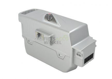 GTE-fietsaccu-Flyer-Panasonic-26V-28Ah-706Wh-zilver-Schoon