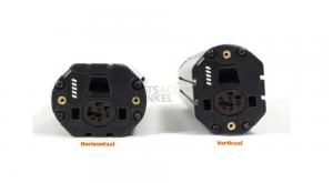 Horizontaal en verticaal Bosch fietsaccu