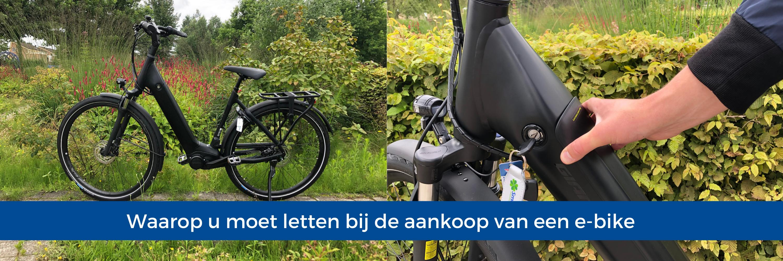 Waarop u moet letten bij de aankoop van een e-bike