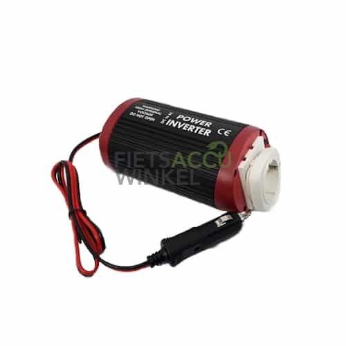 Autolader omvormer voor fietsaccu 12V (150W)